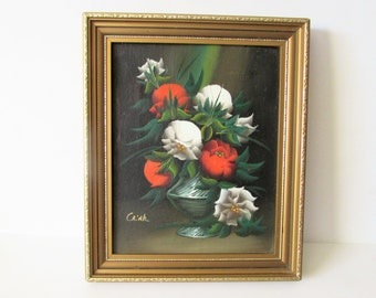 Small Original  Oil painting - Signed by Unknown Atist 'Crink'.