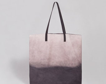 Ombré leather  Bag- Soft leather tote