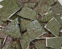 Moss Green Textured Mosaic Tiles, 100 mosaic pieces, Item # ST-5067, handmade, wholesale, ceramic tiles