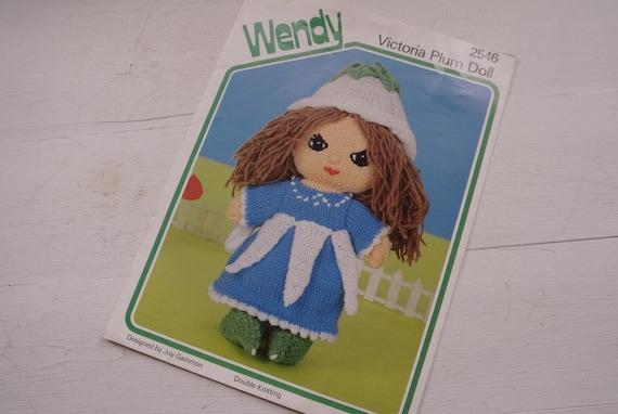vintage wendy victoria plum doll knitting pattern 2546. Black Bedroom Furniture Sets. Home Design Ideas