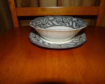 Lovely bowl and saucer from J&G Sterling Renaissance Collection...