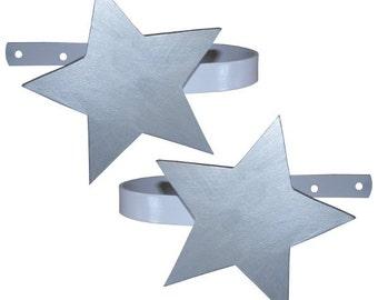 Star Curtain Tiebacks - Silver Star Curtain Holdbacks