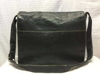 Latico Leather Messenger Bag, Black Leather