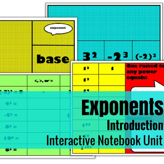 Introduction to Exponents Interactive Math Unit