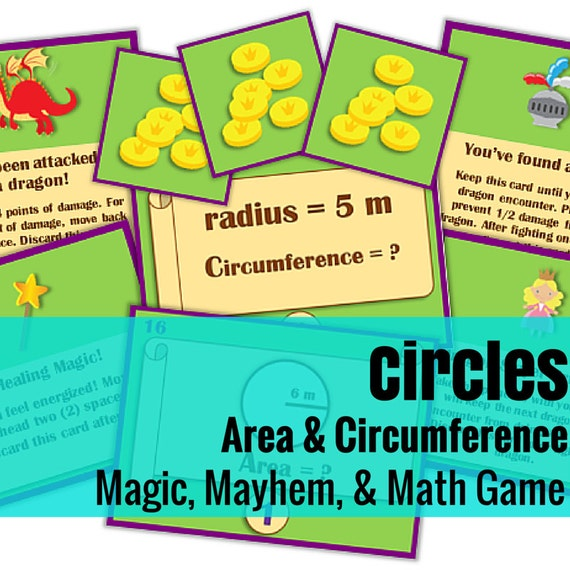 Magic, Mayhem, and...Math! : Circumference and Area of Circles (A Math Game Full of Adventure!)