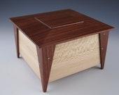 Small wooden keepsake box, jewelry box, stash box