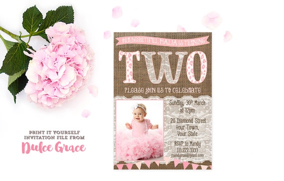 items similar to 2nd birthday invitations, 2nd birthday party, Birthday invitations