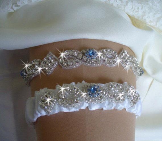 Tradition Of Wedding Garter: Items Similar To Something Blue Garter Set, Wedding Garter