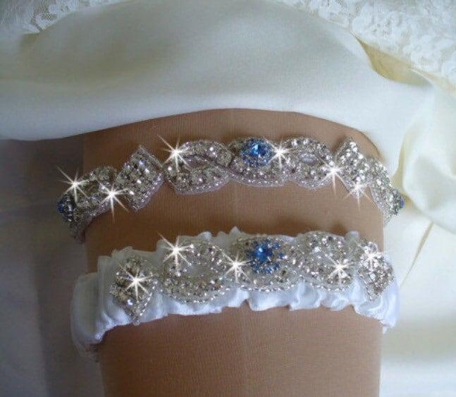 Garter Tradition At Wedding: Something Blue Garter Set Wedding Garter Tradition Garter