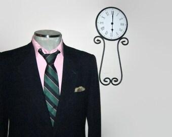 1960s Eaton Birkdale Navy Blue Blazer / Trad / Ivy League / Classic Mens Suit Jacket - Size 40R - Medium / Med / M / 60s Mad Men