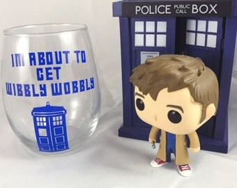Wibbly Wobbly Timey Wimey Doctor Who Wine Glass