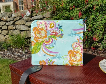 Floral Fabric Makeup Bag