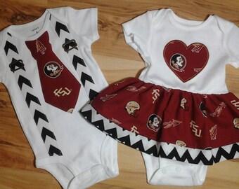 FSU Fabric Onesie for Boy or Girl