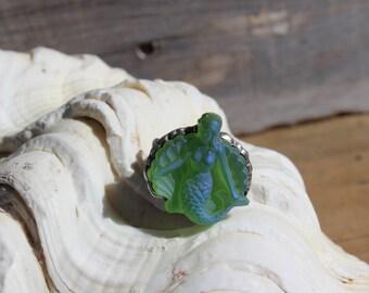 Beach Inspired Jewelry - Sea Foam Green Mermaid Ring - Wedding - Beach Jewlery -  Gift - Birthday Gift - Bracelet
