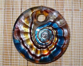 Round Lampwork Pendant Bead