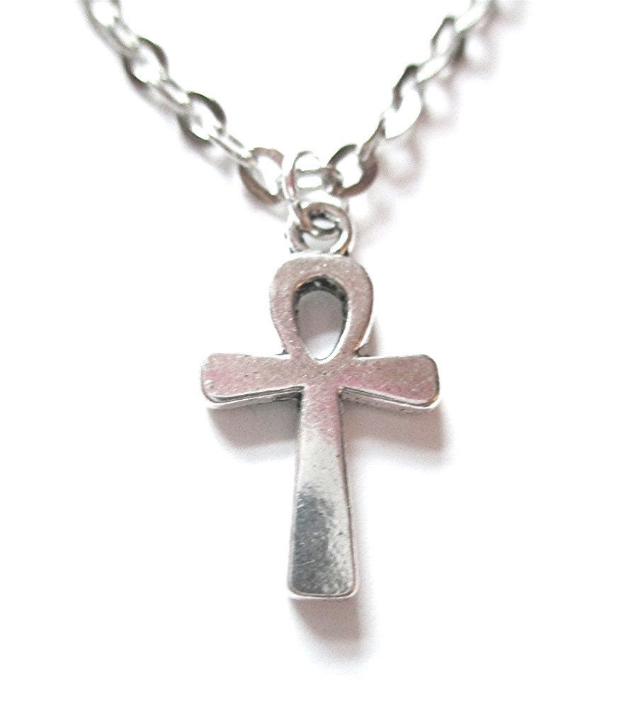 silver ankh necklace silver crossnecklace