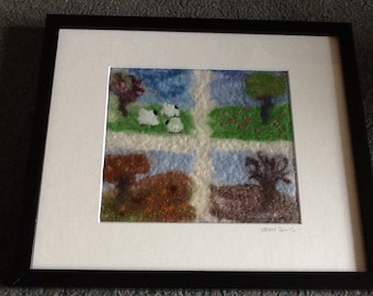 The Seasons - Wet felted picture