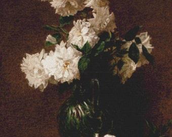 Vase of Flowers PDF Cross Stitch Pattern