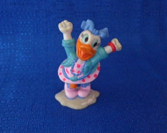 Vintage Daisy Duck Cake Topper,Applause Daisy Duck Figure, Disney Figurine