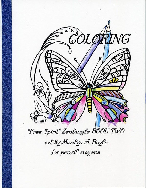 Items Similar To ADULT COLORING BOOK 10 Pages Zentangle