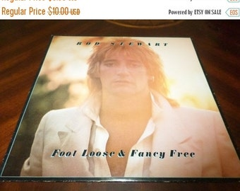 Save 30% Today Vintage 1977 LP Record Rod Stewart Foot Loose & Fancy Free Near Mint Condition 2619