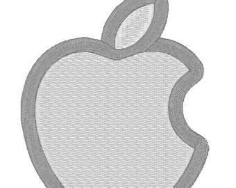 Apple Mac Computer Logo Patch Embroidery Set Instant Digital Download