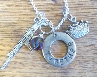 The 100-Bellarke Hand Stamped Necklace-Bellamy Blake and Clarke Griffin