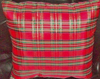 SCOTTISH PLAID PILLOW! ~ Beautiful for Christmas too!