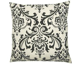 Pillowcase OZBORNE natural black Baroque ornament 40 x 40 cm