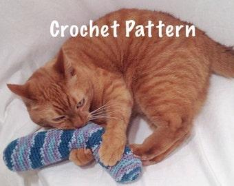 Crochet Pattern - Catnip Kick Stick Cat Toy