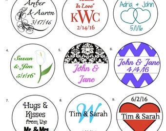 Personalized Wedding Labels Candy / Favors/ Envelope Seal