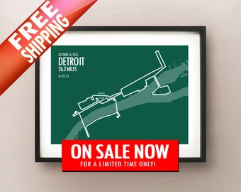 2016 Detroit Marathon - LIMITED SALE + FREE Shipping!