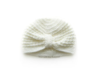 Babys Crochet Turban, Baby Hat, Turban Hat