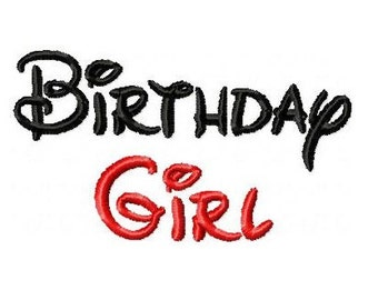 Birthday Girl Embroidery Design -INSTANT DOWNLOAD-