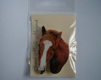 Small Chestnut Thoroughbred Horse Fridge Magnet