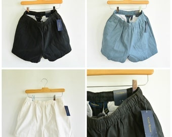 Club Room Men's Brushed Cotton Elastic Waist Draw String Shorts Tennis Normcore 90's New with Tags Size Small Your Choice of 5 Colors