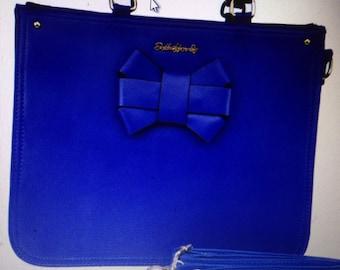 Beautiful summer blue bow bag