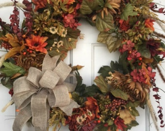 Rustic Full Wreath, FREE SHIPPING, Grapevine Wreath, Ready To Ship