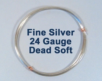 Fine Silver Wire - 24ga DS - Choose Your Length