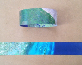 Paper Chain Garland Decoration - Space/Astronaut/Travel/Planet Earth/Aerial Map/Adventure/Galaxy/Recycled - 8ft