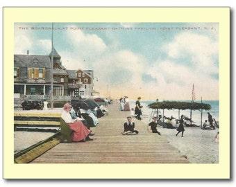Boardwalk, Point Pleasant, New Jersey NJ REPRO Vintage Postcard