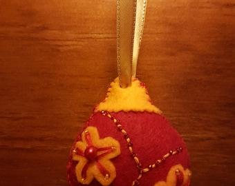 Felt Beaded Christmas Ornaments