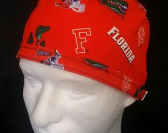 Florida Gators UF College Tie Back Surgical Scrub Hat