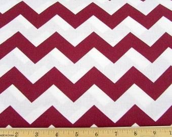 "1"" Chevron Burgundy Fabric"