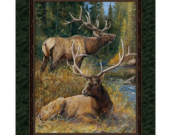 Wild Wings Lazy Afternoon Elk Fabric From Springs Creative By the Panel
