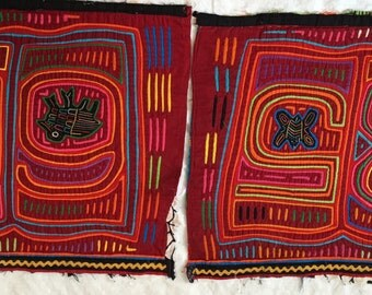 Pair of Vibrant Molas