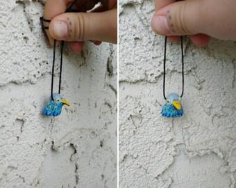 Hand Sculpted Bird Bead Necklace