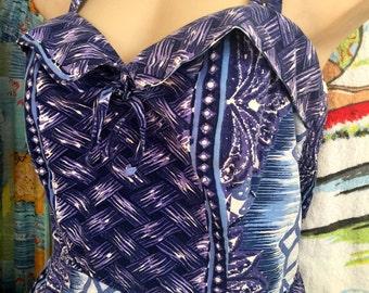HAWAIIAN Original 1950s Kamehameha Swimsuit Romper Plus Size