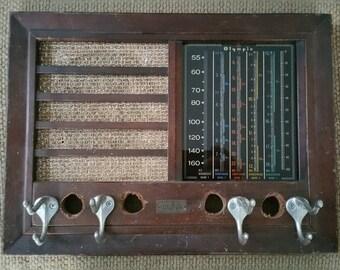 Vintage Olympic Radio Coat Rack