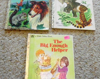 Choice, or take all 3.  Little Golden Book: The Big Enough Helper, Saggy Baggy Elephant, Lassie the Big Clean-up Day.